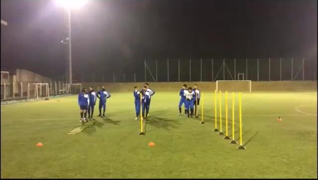 Il riscaldamento nel calcio